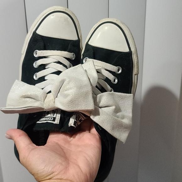Converse Shoes   Bow   Poshmark